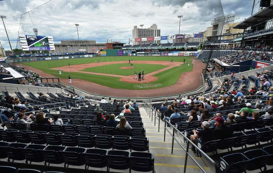 Dunkin' Donuts Park in Hartford. Photo: Catherine Avalone / Hearst Connecticut Media / New Haven Register