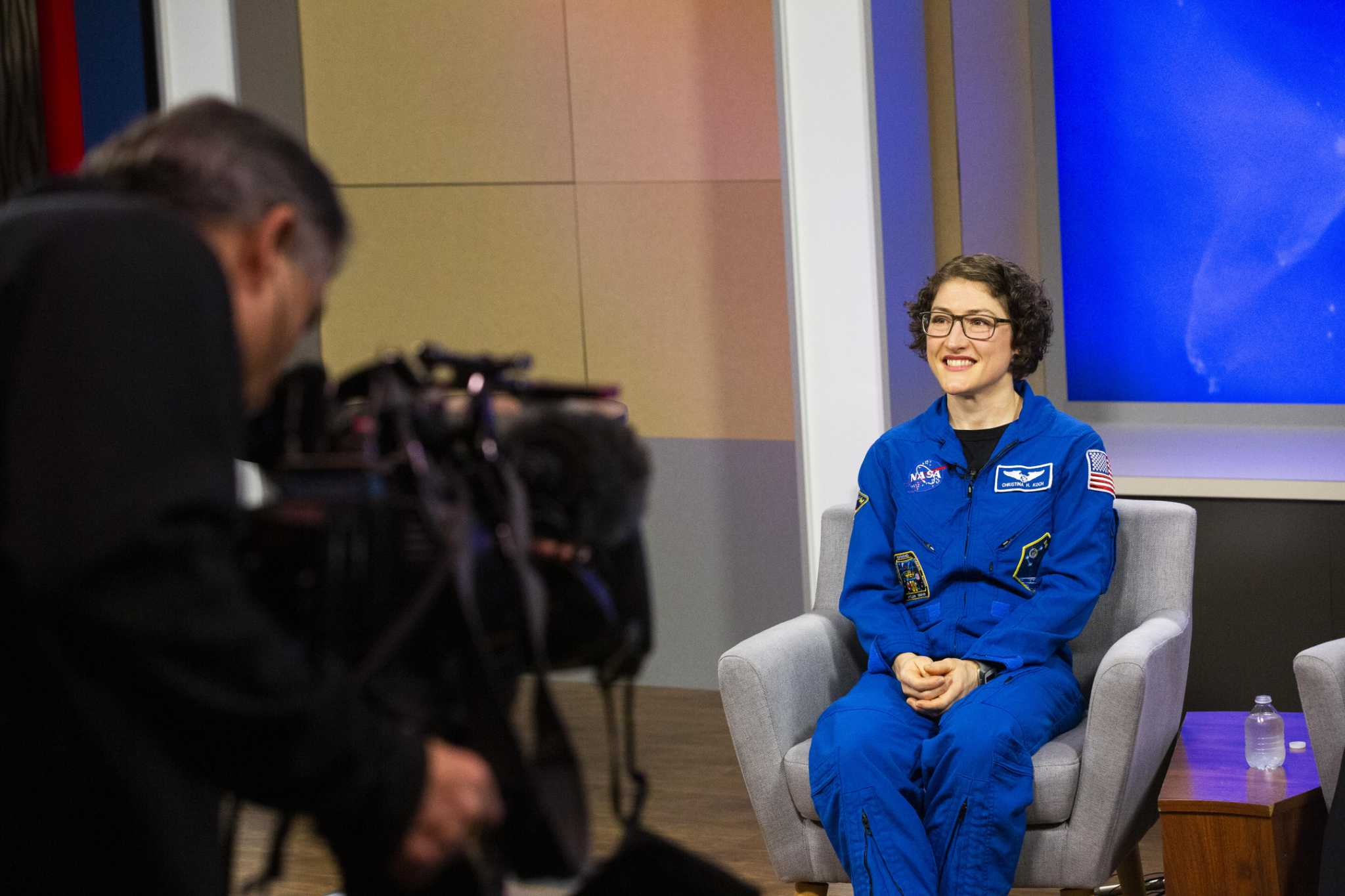Christina Koch, back in Houston after record-setting space flight, readjusts to Earth