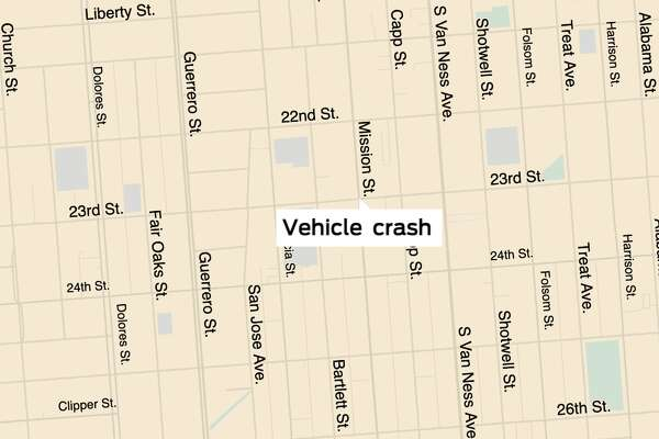 Police and emergency crews responded to a vehicle crash that hit at lease three pedestrians at the intersection of Mission and 23rd Streets on Wednesday, Feb. 12.