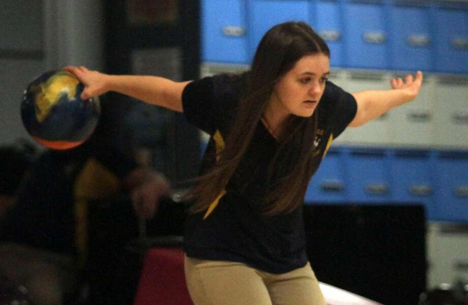 The Bad Axe girls varsity bowling team claimed the Upper Thumb High School Bowling Conference title during a position round match versus Caro at Holly Meadows on Tuesday. Photo: Tribune File Photo