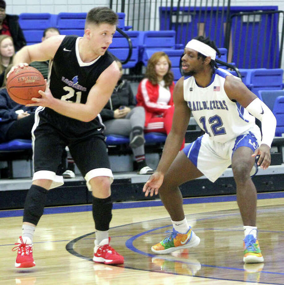 LCCC's Cam McNeil (12) scored 20 points in Wednesday' night's 84-81 victory at Southeastern Illinois College in Harrisburg. Photo: Pete Hayes | The Telegraph