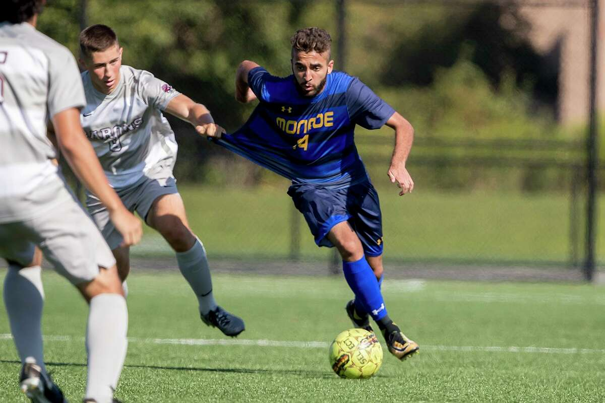 Roque Viegas had 14 goals and 12 assists during an 18-0-0 season for Monroe Community College.