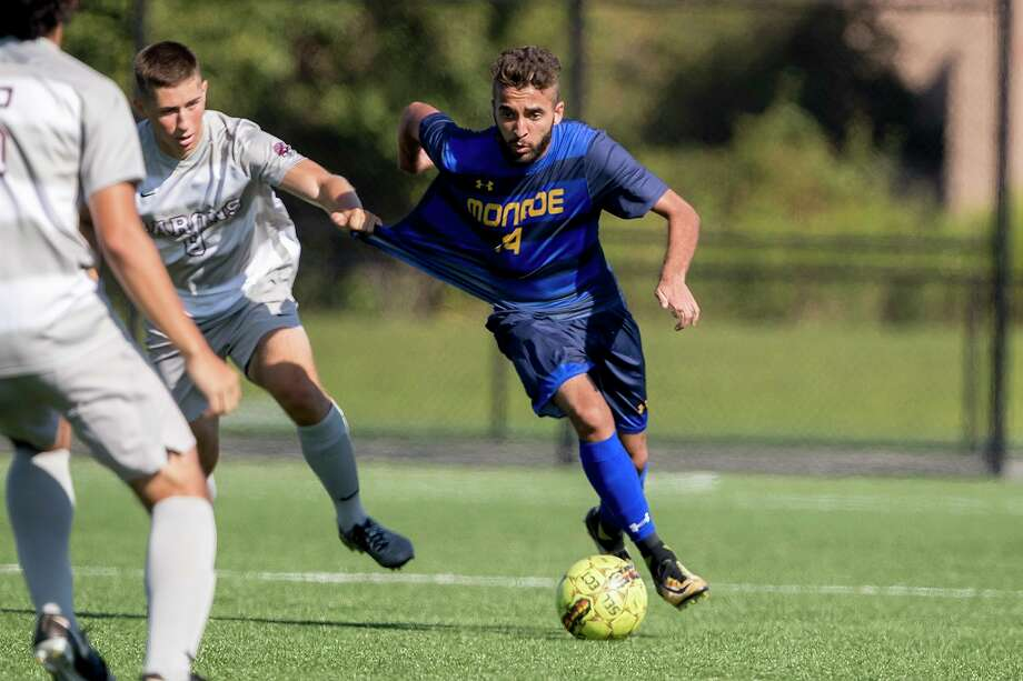 Roque Viegas had 14 goals and 12 assists during an 18-0-0 season for Monroe Community College. Photo: Courtesy Of Monroe Community College Athletics