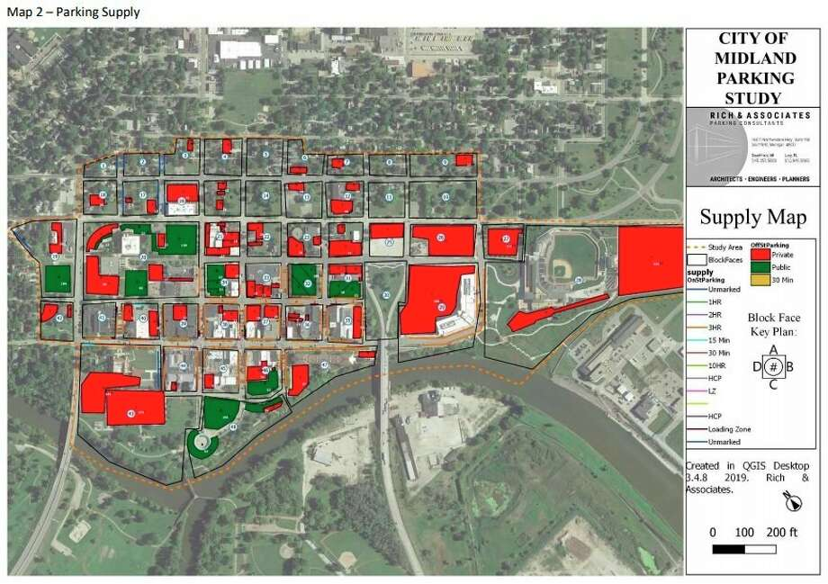 A draft of the downtown Midland parking study final report conducted by Rich and Associates was shared with the Downtown Development Authority in February. (photo provided)