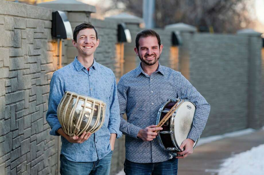 From left, If + When Percussion founders Ben Yats and Kevin Keith will perform in Midland on Sunday, Feb. 16. (Photo provided/Andy Colwell) / Andy Colwell 2020