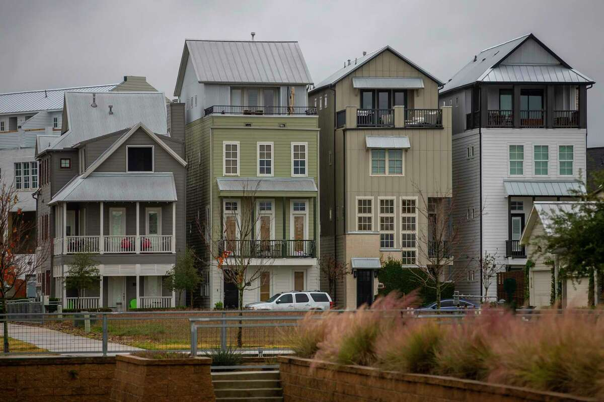 Homes in the Kolbe Farms neighborhood, a development by Frank Liu's InTown Homes, continue to grow in the Spring Branch area of Houston, Tuesday, Dec. 10, 2019.