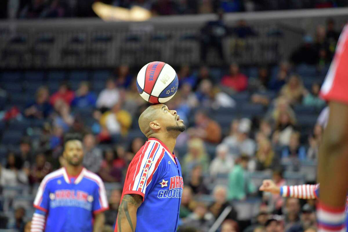 Scooter Christensen will be among the Harlem Globetrotters performing at Webster Bank Arena Feb. 14 and Feb. 21.