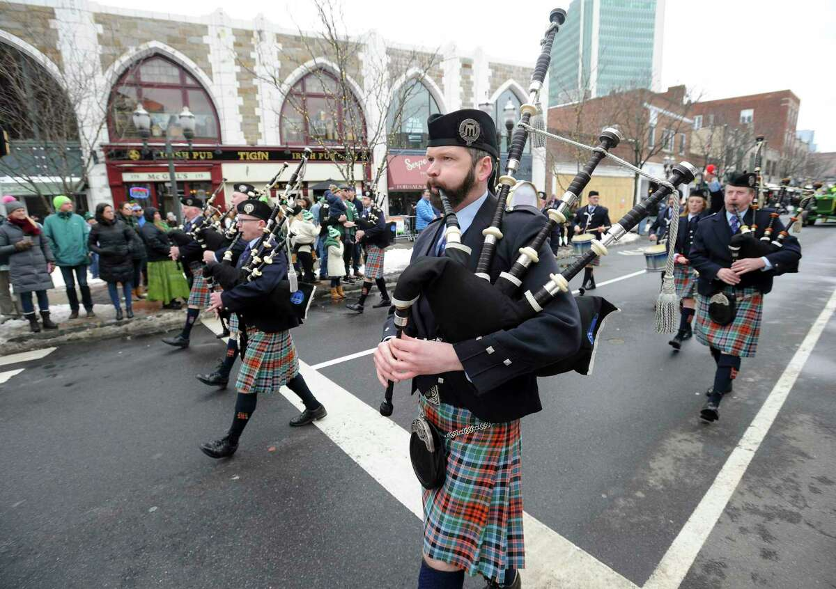 Festive scenes fill the streets with Irish Pride during the City of Stamford's Annual St. Patrick's Day Parade on Saturday, March 2, 2019 in Stamford, Connecticut.