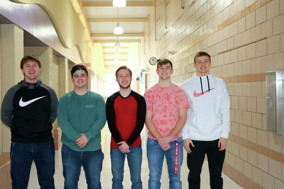 The Cominghome senior class representatives left to right are Jeff Oakley, Gavin Iseler, Sean Hessling, Caleb Hunter and Nathan Siemen. (Courtesy Photo)