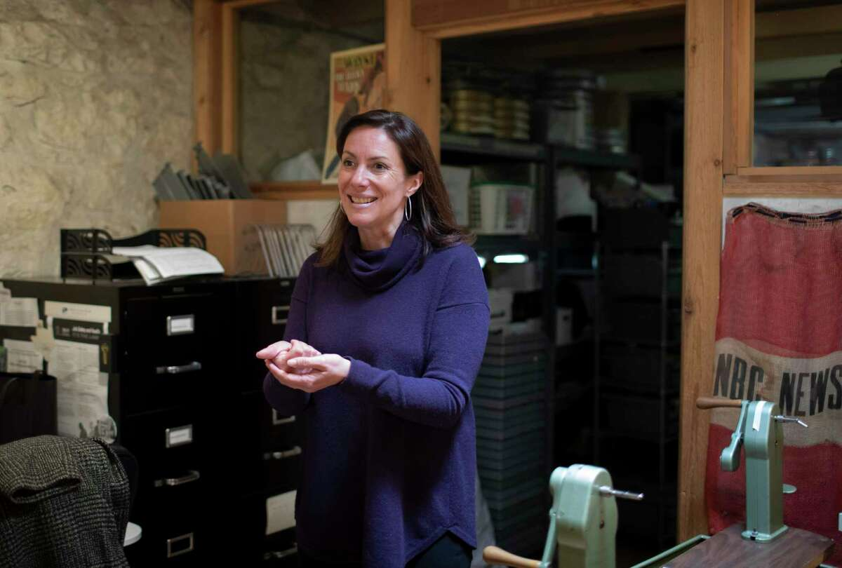 Executive Director Caroline Frick talks about the archival processes and different types of film at the Texas Archive of the Moving Image, Tuesday, Jan. 21, 2020 in Austin.