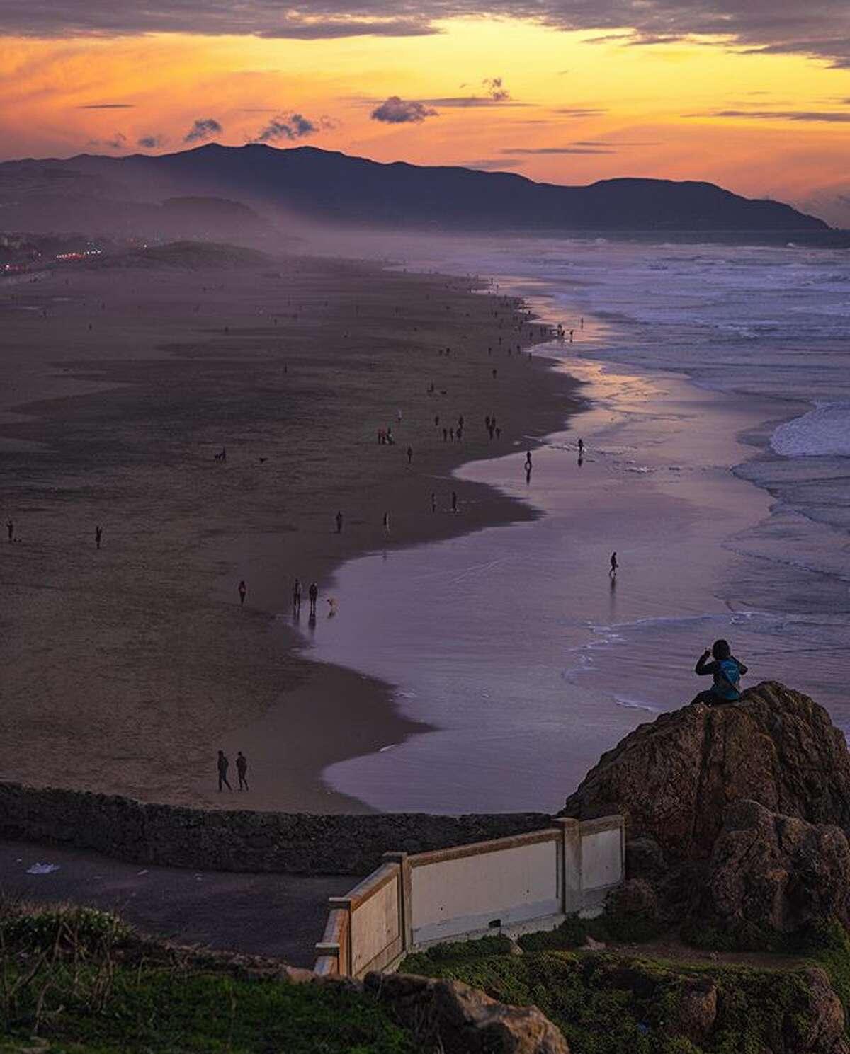 Sunset at Ocean Beach by @sunjay_chopra