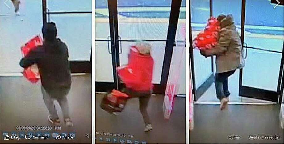 Police are looking for three men who stole more than $1,000 worth of Nike sneakers from the DSW store on Universal Drive in North Haven on Sunday, Feb. 9, 2020. Photo: North Haven Police Photos