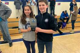Saint Mary School Milford recently participated in a robotics competition at Corpus Christi School in Weathersfield. Each St. Mary team completed in 4 qualifying rounds in conjunction with different teams from 43 other schools. The team of Layla Alogna and William Bader placed first in the team-work competition and are invited to the state competition this March.