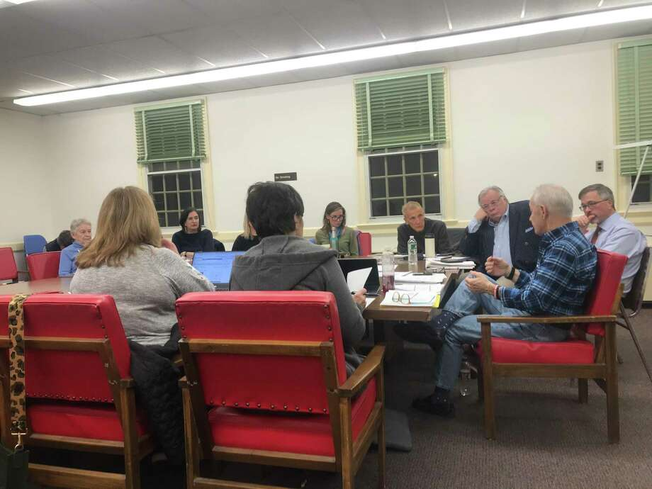 A meeting of the Fairfield Affordable Housing Committee on Feb. 12, 2020. Photo: / Josh LaBella