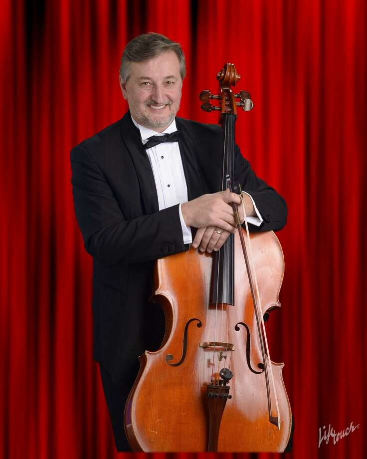 The American Chamber Orchestra Winter Concert at the First Presbyterian Church of Fairfield on March 7 will include the emotionally charged cello concerto of Sir Edward Elgar, with Gjorgi Kroqi, pictured, as the cello soloist. Photo: American Chamber Orchestra / Contributed Photo
