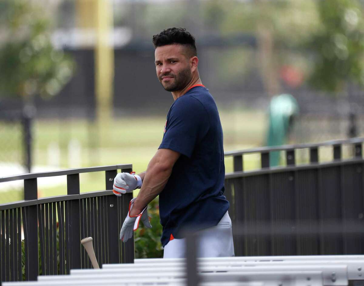 Jose Altuve's tattoo was a hot topic on the first day of full-squad workouts Monday at Astros spring training.