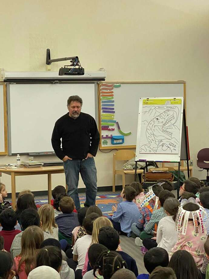 Frenchtown School had author/illustrator Ralph Masiello visit on Tuesday, Feb. 11. Masiello is best known for his Alphabet Books and Drawing Books. Through the generosity of the Frenchtown PTA, he provided a day of enrichment and entertainment for Frenchtown students. The children were engaged and entertained as he described his journey to becoming an illustrator. He stressed that his work requires many revisions, just like the student's writing. Every classroom was the recipient of a drawing made and autographed by Masiello. Each student will soon receive a bookmark with a drawing by him that will be designed specifically for Frenchtown. Photo: Contributed Photos
