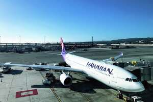 Hawaiian Airlines A330 widebody is used in a few SFO-HNL flights, but mostly on the carriers New York and Asia long hauls