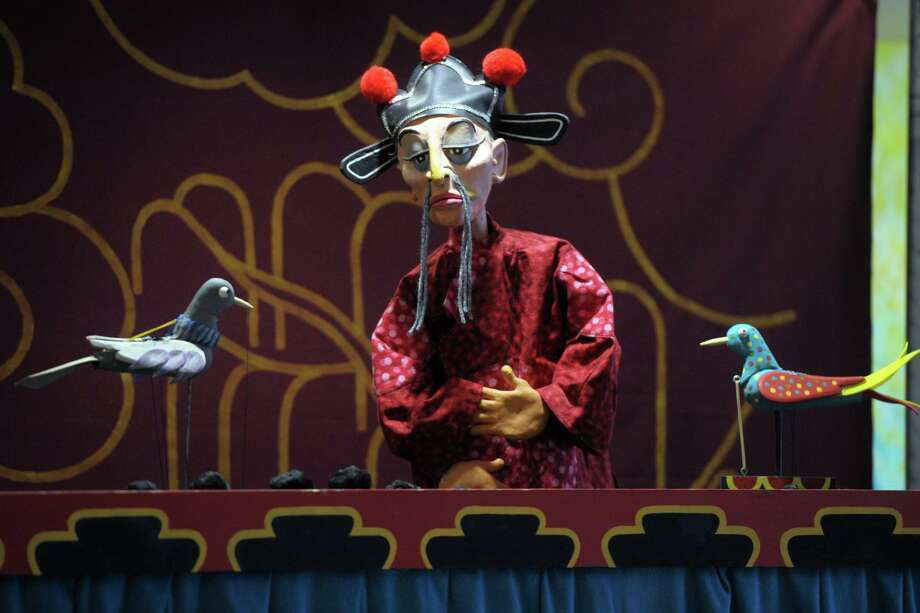 The Robert Rogers Puppet Company staged a performance of Hans Christian Andersen's The Nightingale for children at the Byram Shubert Library, in Greenwich, Conn. Feb. 11, 2020. Photo: Ned Gerard / Hearst Connecticut Media / Connecticut Post