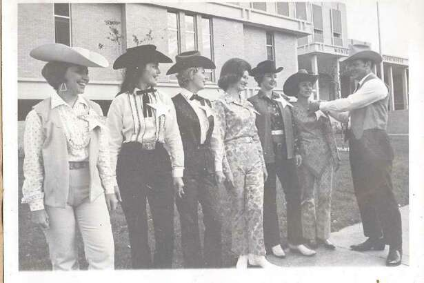 "Then president of the Montgomery County Trail Riders Association, Gladcell Cochran, deputizes women who will drum up support for the 1967 parade in the event. Parade officials would often ""arrest"" those who did not dress up well enough for the parade festivities."