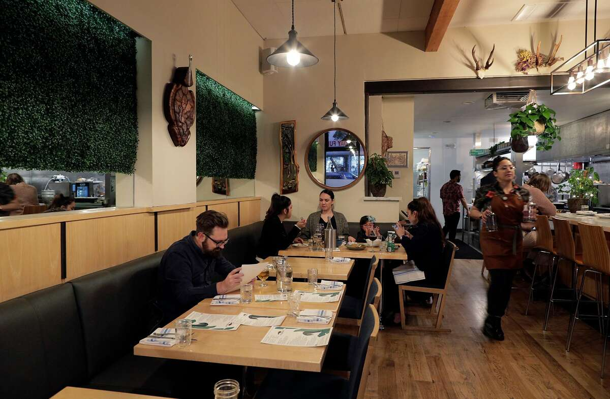 The dining room at Prubechu, a Guamanian restaurant that just reopened in the Mission in San Francisco, Calif., on Thursday, February 6, 2020.