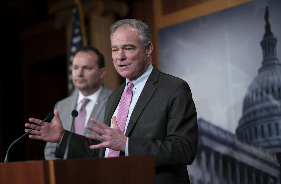 Sen. Tim Kaine authored the bill that congressional approval is needed before further military action against Iran. Photo: J. Scott Applewhite / Associated Press