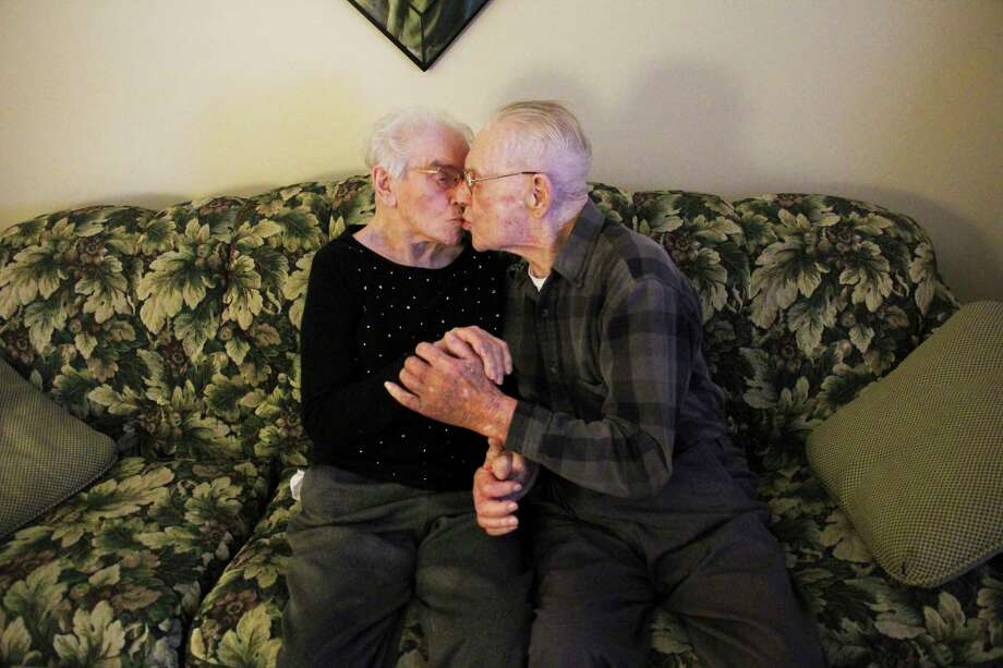 On May 17, 2020 Elmer and Beatrice Micklash will celebrate 79 years of marriage. (Sara Eisinger/Huron Daily Tribune)