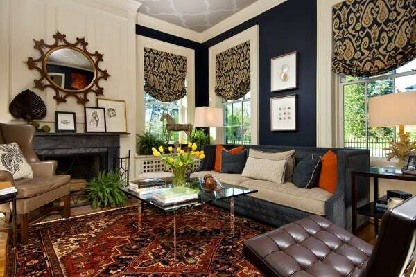Interior designer Patricia Richardson used an antique Persian rug in the design of this living room. (Photo provided by Blairhouse Interior Group)