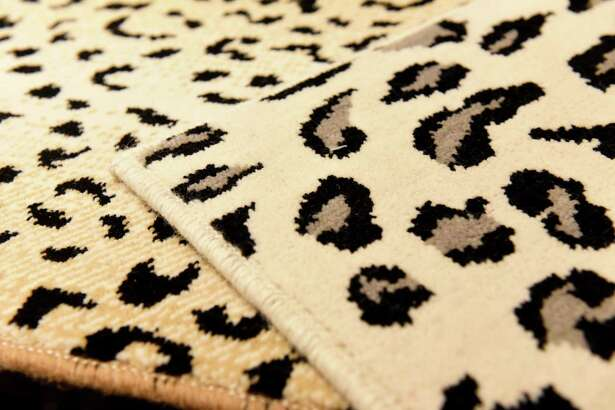 Animal print carpet samples at the Albany Tile, Carpet & Rug showroom on Wednesday, Feb. 12, 2020, in Albany, N.Y. (Will Waldron/Times Union)
