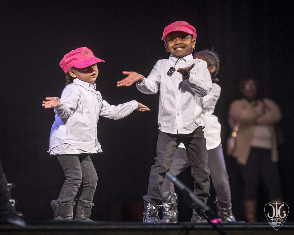 Kids performing at the 2015 Black History Month Step Show at the Palace (Jim Gilbert / image courtesy the Palace Theatre)