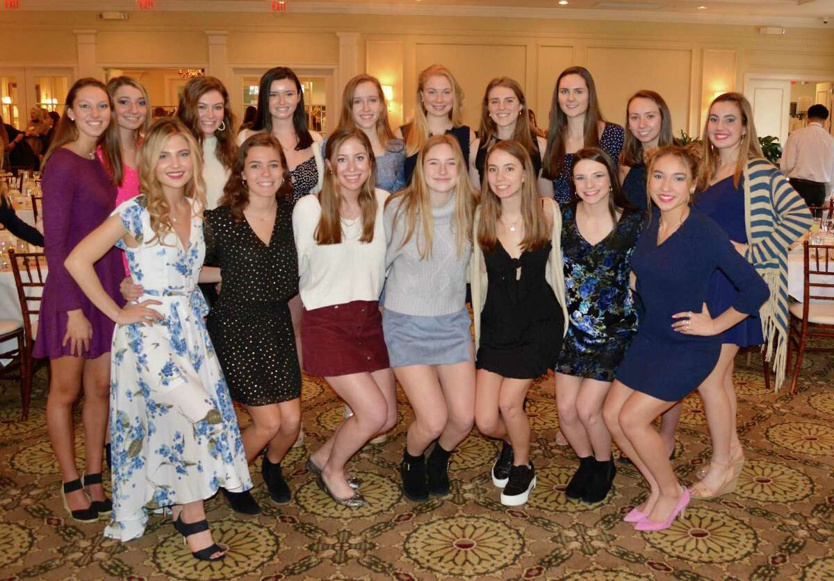 Front row from left: Ally Riley, Taylor Frame, Mia Mitchell, Maddie Otero, Emma Dunlap, Alexandra Mehos and Quincy Connell. Back row from left: Caroline Wilson, Allie Vogel, Caroline Kelly, Heather Doherty, Katherine Lisecky, Elizabeth DeMarino, Meredith Waldron, Olivia Sheridan, Maggie Streinger and Olivia Bognon.