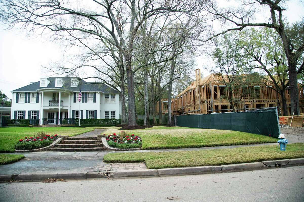 New home being constructed on Del Monte Drive in the River Oaks neighborhood on Tuesday, Feb. 11, 2020, in Houston.