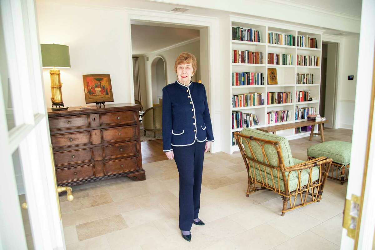 Realtor Janie Miller, 86, has specialized in the River Oaks neighborhood since the 1970s. Portrait taken on Tuesday, Feb. 11, 2020, at a River Oaks home in Houston.