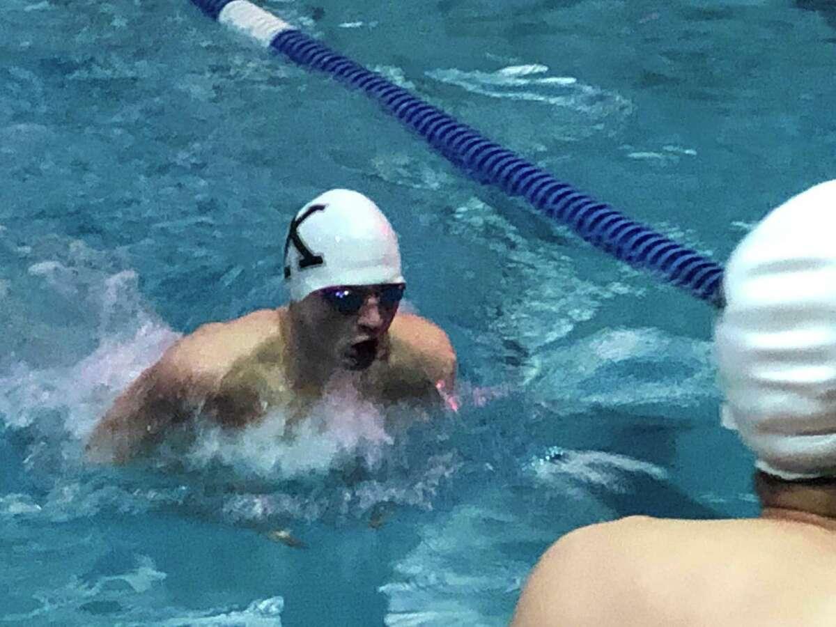 Xavier swimmer Andrew Mitchill.