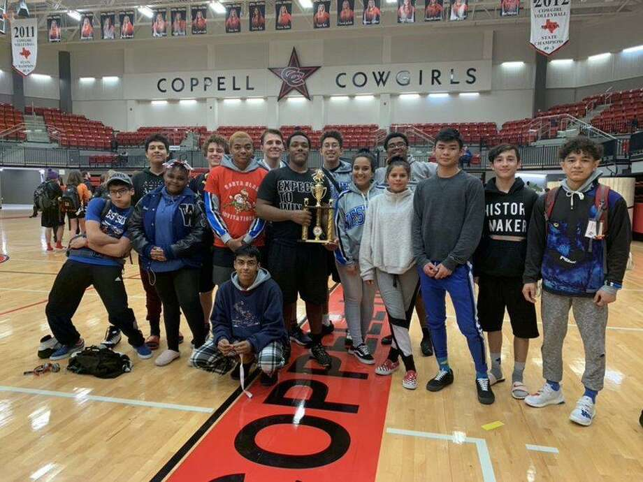 The Westside wrestling team won the boys District 11-6A championship, repeating as team champions. Photo: Westside High School / Westside High School