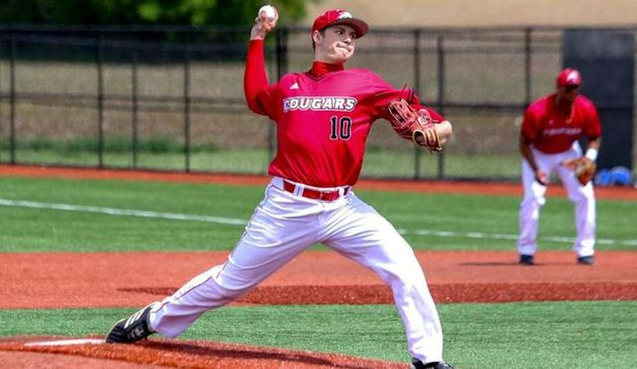 SIUE pitcher Kenny Serwa delivers a pitch during a game last season. Photo: SIUE Athletics