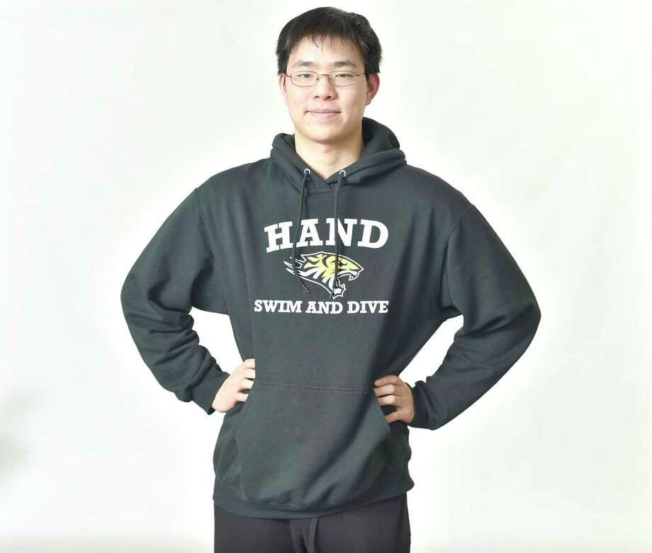 Hand swimmer Daniel Chen. Photo: Peter Hvizdak / Hearst Connecticut Media / New Haven Register