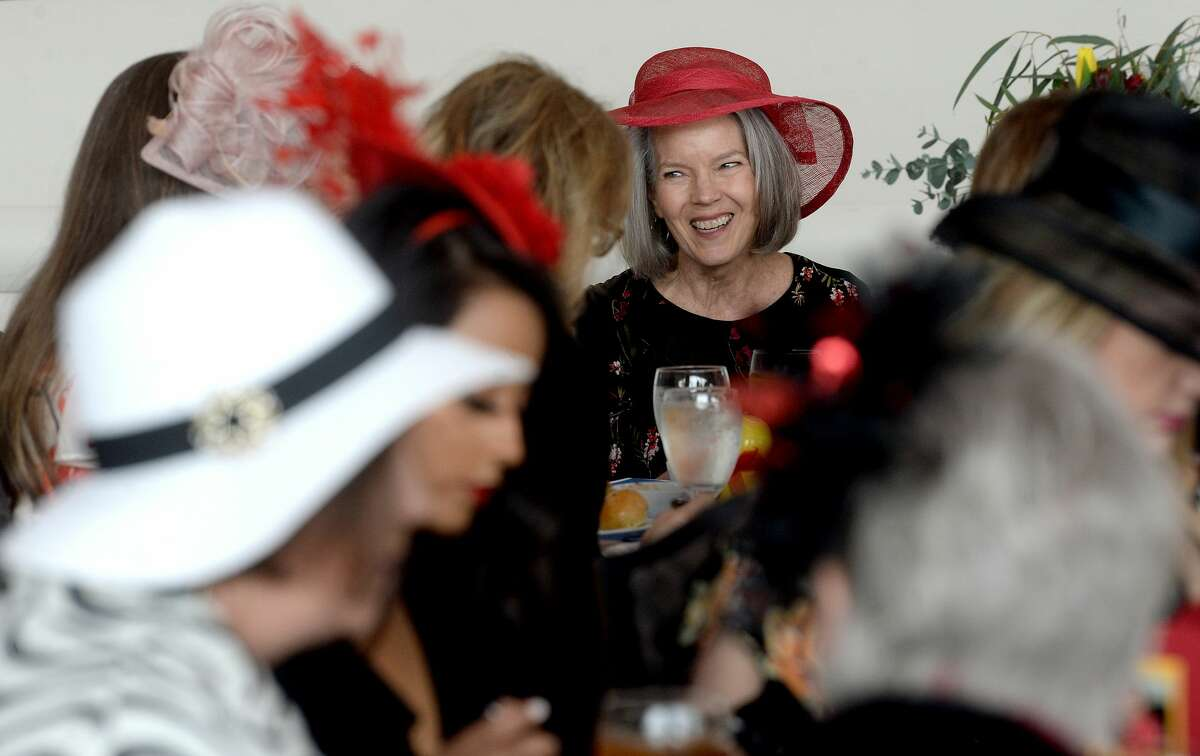 Guests, dressed in derby hats and attire, socialize at the annual Shorkey Center Ducky Derby Luncheon Thursday at the Event Centre. A silent auction and special recognition of supporter Broussard's Mortuary rounded out the event. Photo taken Thursday, February 13, 2020 Kim Brent/The Enterprise