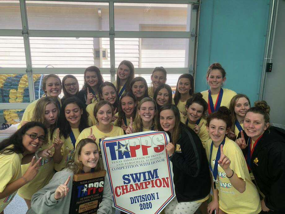 The St. Agnes Academy swimming team won its fifth consecutive TAPPS Division I state championship with 455 points. Photo: St. Agnes Academy / St. Agnes Academy