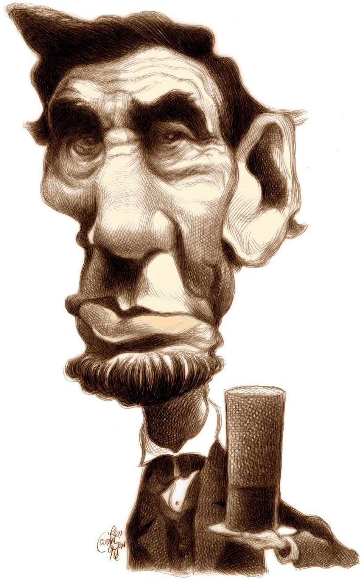 U.S. president Abraham Lincoln by Ron Coddington, KRT, 1996 CATEGORY: CARICATURE SUBJECT: Abraham Lincoln ARTIST: Ron Coddington RESEARCHER: Staff ORIGIN: KRT TYPE: EPS JPEG SIZE: As needed ENTERED: 9/18/96 REVISED: STORY SLUG: krtpresday us, president, lincoln, abraham, politics, color, krt, 1996, coddington. HOUCHRON CAPTION (01/05/2004): None. Lonely Lincoln / Biographer says 16th president was hiding behind that beard.