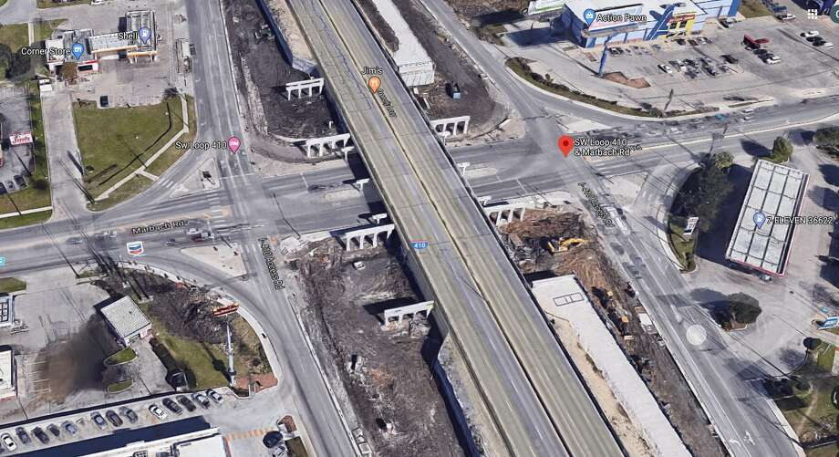 The Texas Department of Transportation will close part of Loop 410 over the weekend for road work. Photo: Google Maps