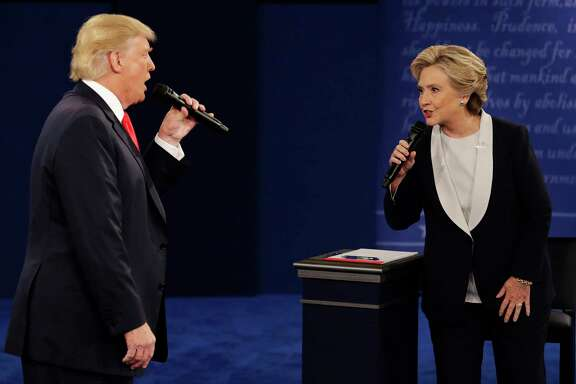 In the 2016 debates, then Republican presidential nominee Donald Trump circled Hillary Clinton like a shark, a reader says. She sees no reason for the 2020 Democratic nominee to share a stage with Trump.