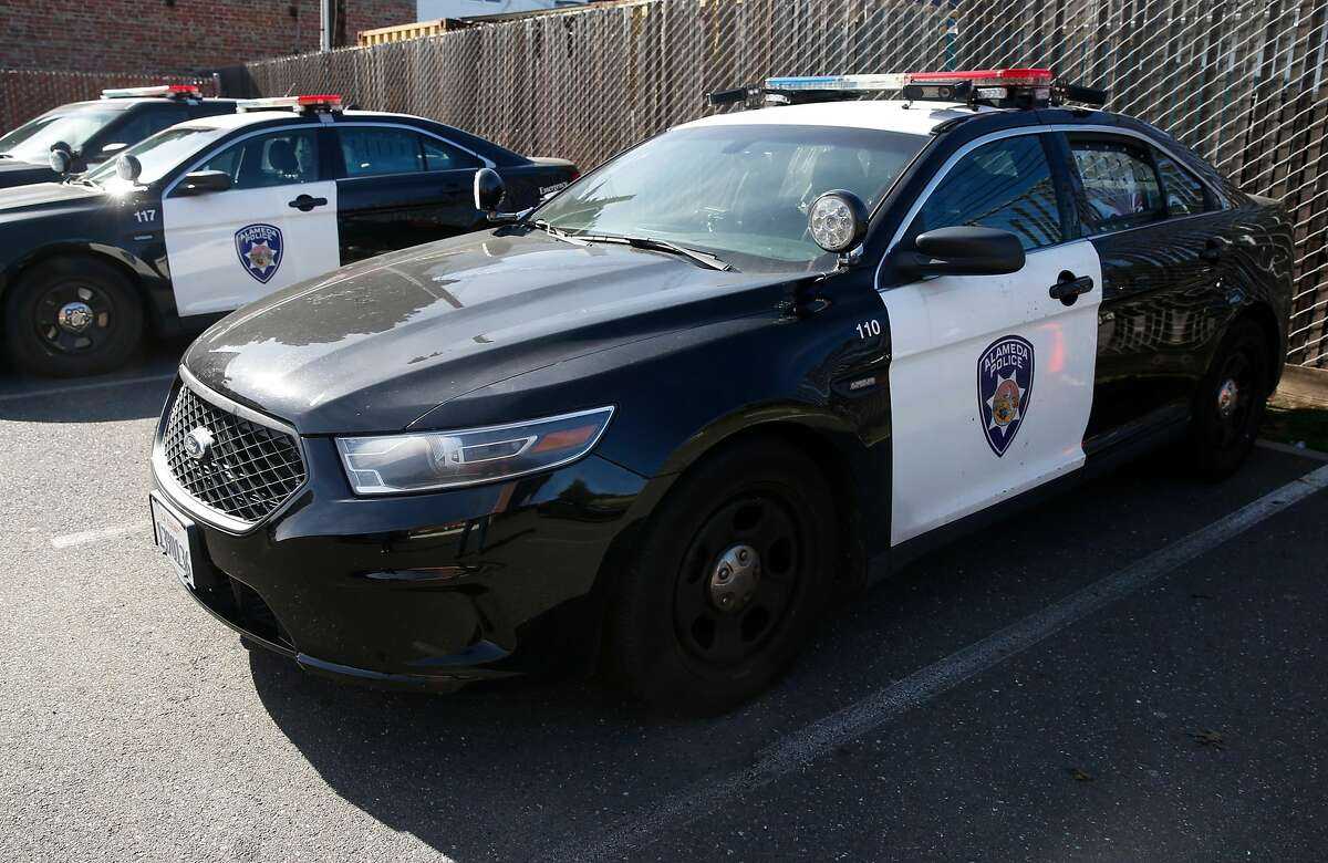 Mobile license plate readers are mounted on the roof a police cruiser in Alameda, Calif. on Friday, Feb. 2, 2018. The Alameda City Council will vote on a plan to install license plate readers mounted on posts at all entry points into the island city.