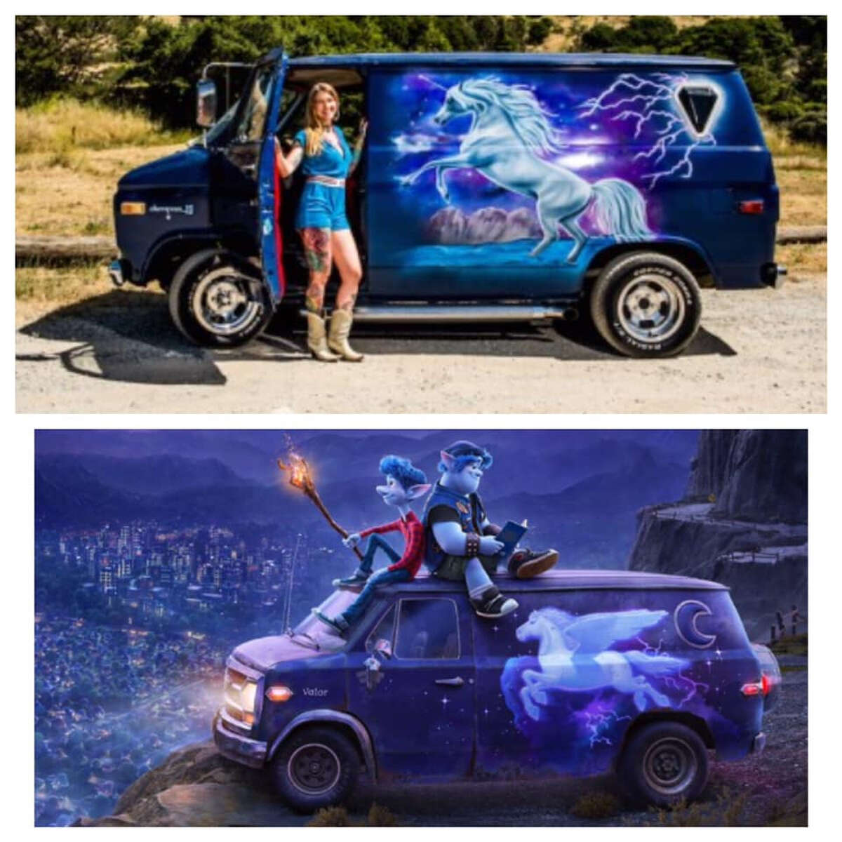 A San Francisco artist is suing Pixar for reportedly renting out her van without asking to use a depiction of it in the upcoming movie