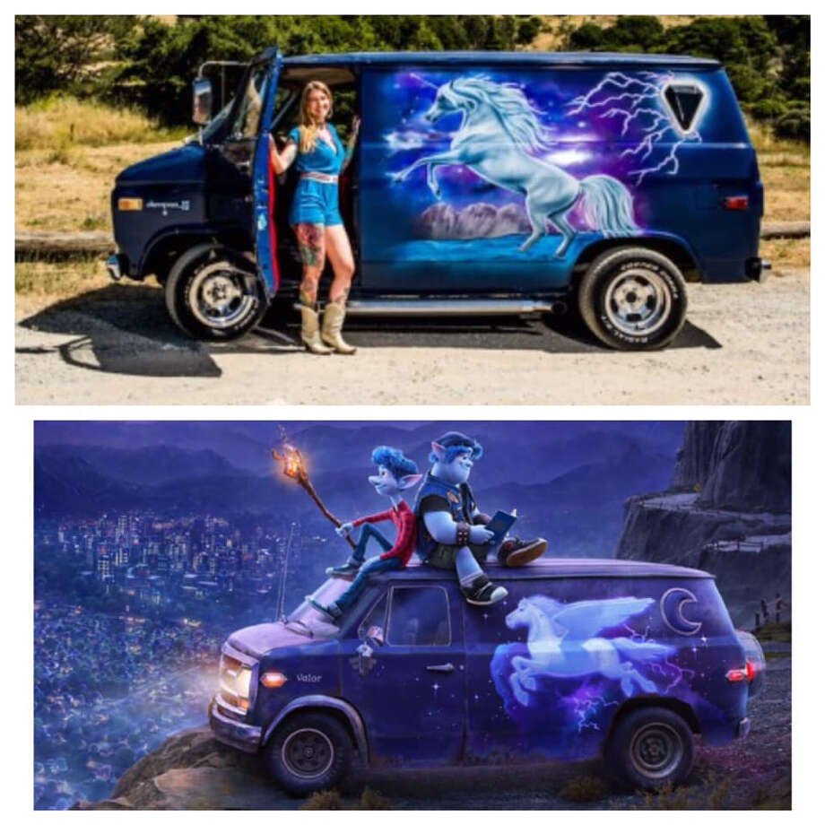 "A San Francisco artist is suing Pixar for reportedly renting out her van without asking to use a depiction of it in the upcoming movie ""Onward."" Photo: Courtesy Of Conor Corcoran Via Sweet Cecily Daniher"