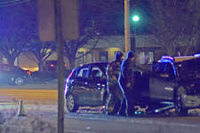 Two cars were involved in a collision on Troy Road late afternoon on Thursday.