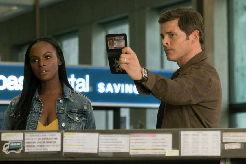 This image released by Paramount Pictures shows Tika Sumpter and James Marsden, right, in a scene from