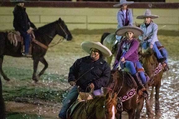 Kristy Escamilla, front, and other members of Escaramuza las Coronelas practice on Feb. 12. A reader applauds the San Antonio Stock Show & Rodeo for its  historic showcase.