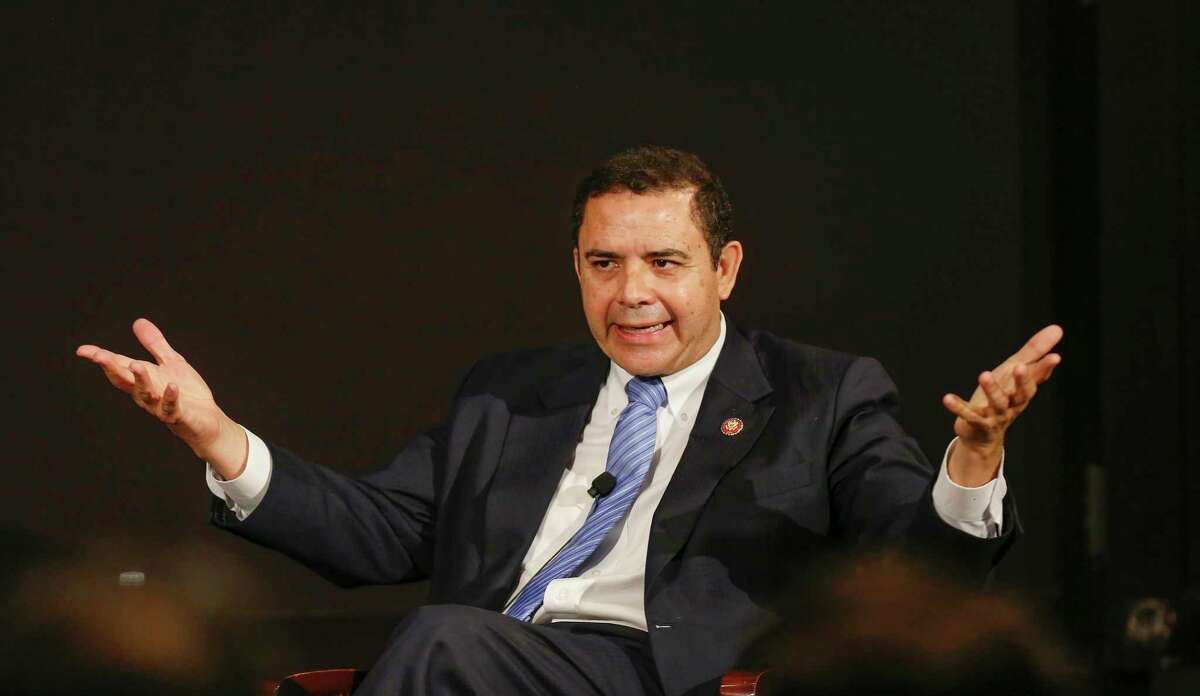 U.S. Representative Henry Cuellar participates in an Armchair Discussion - The USMCA and the Future of the NADB in the James A. Baker III Hall at Rice University on June 6, 2019, in Houston.