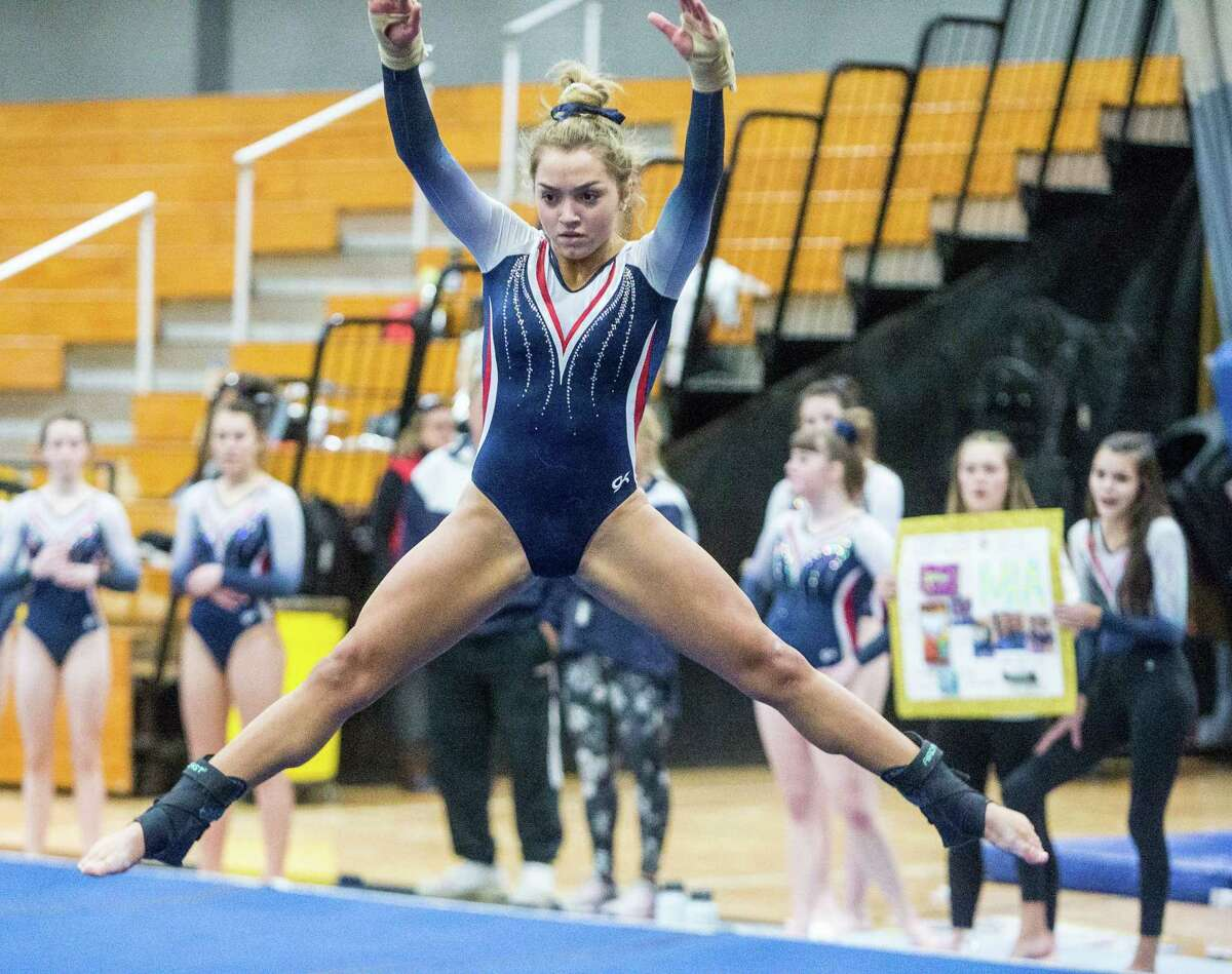 Mercy's Mia Lawrence is seeded fourth in the floor exercise at Saturday's State Open.